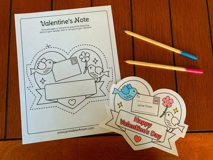 Love Birds Printable Note Free Printable DIY Coloring Page