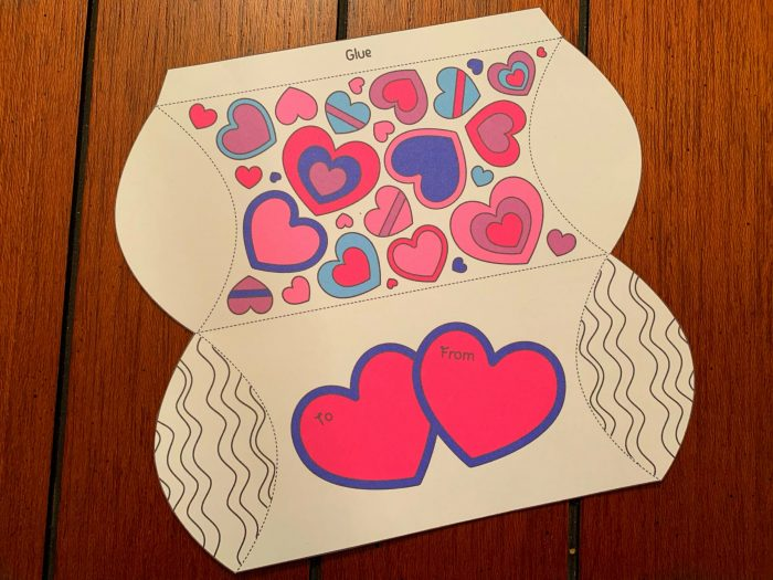 Valentine's Day Pillow Box Craft Free Printable Gift