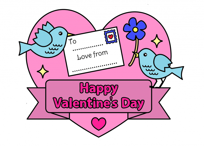 Love Birds Printable Note Free Printable DIY Coloring Page