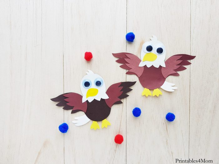 Eagle Papercraft for Kids Free Printable Craft Template