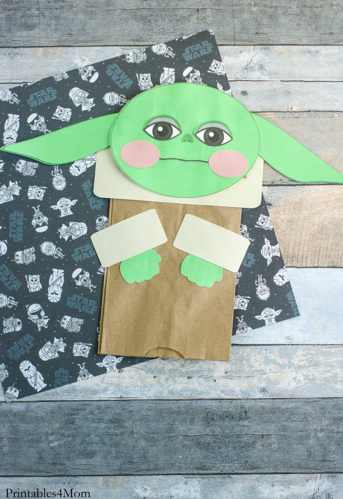 Baby Yoda Paper Bag Puppet Star Wars Kids Craft