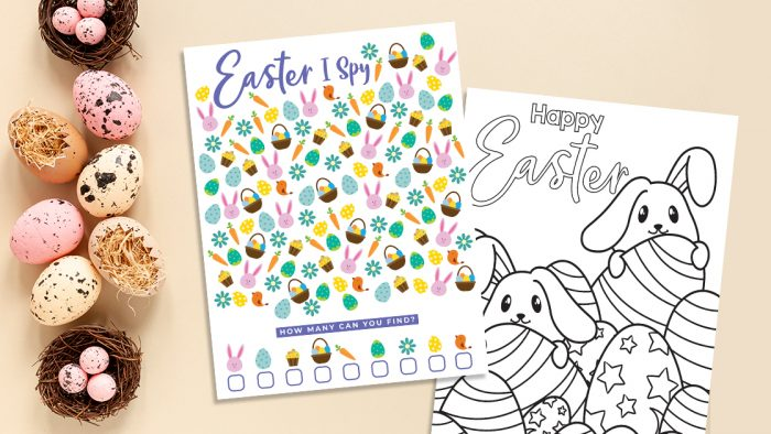 Easter ISpy and Coloring Page