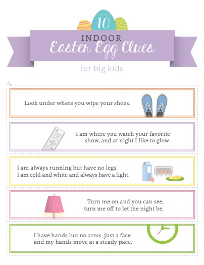 Printable Easter Egg Hunt Clues