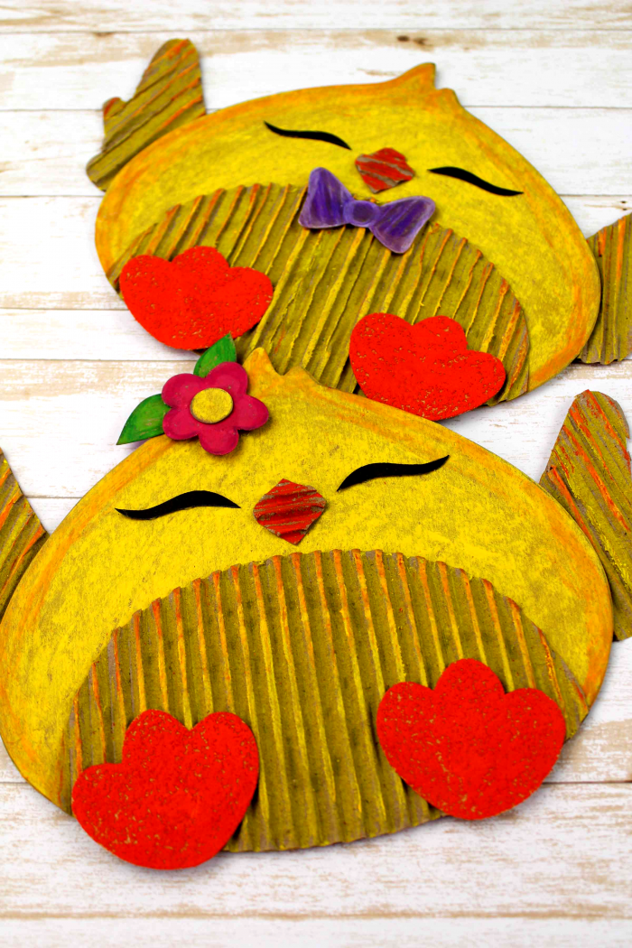 Easter Chick Cardboard Craft Free Printable Template