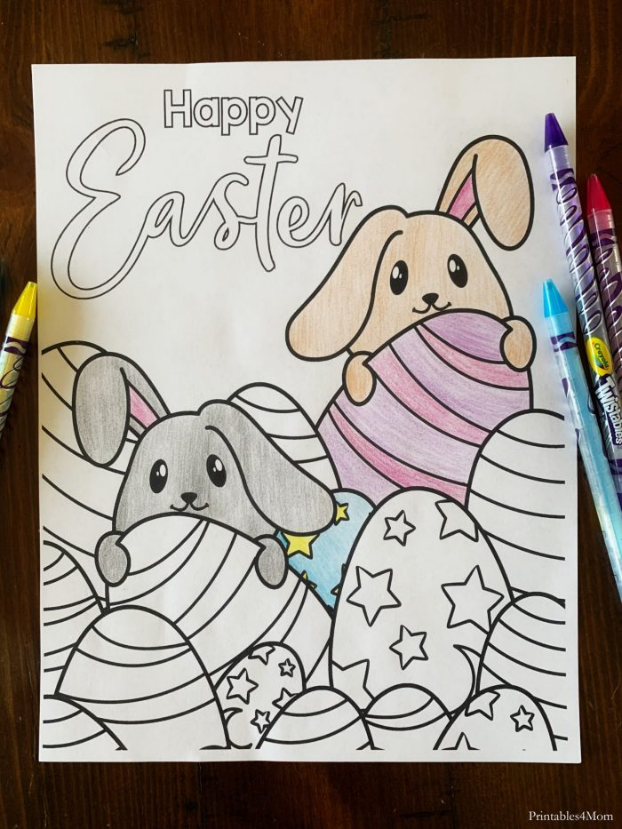 Easter ISpy and Coloring Page Free