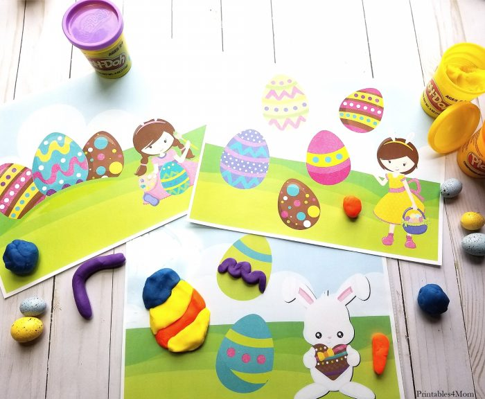 Printable Easter Playdough Mats Free printable frugal Easter gift idea