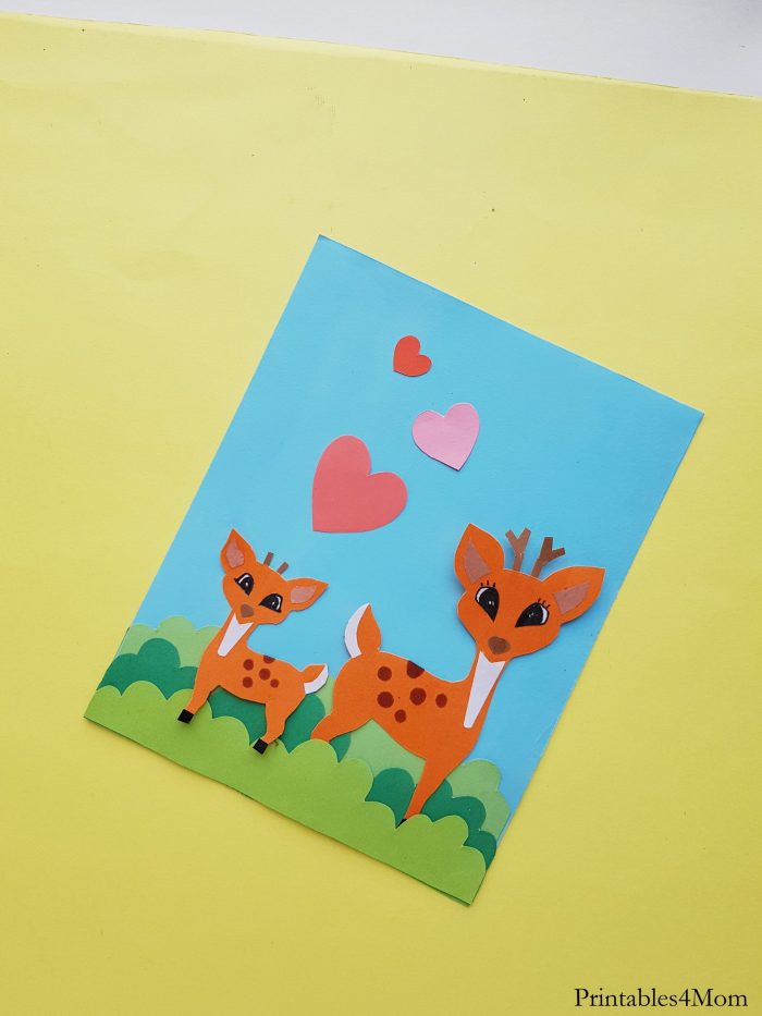 Deer Mother's Day Craft Free Printable Card