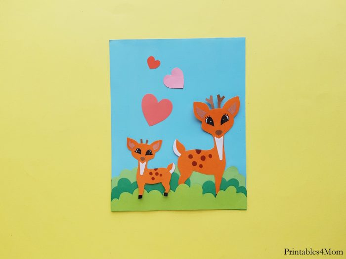 Deer Mother's Day Craft Printable Card