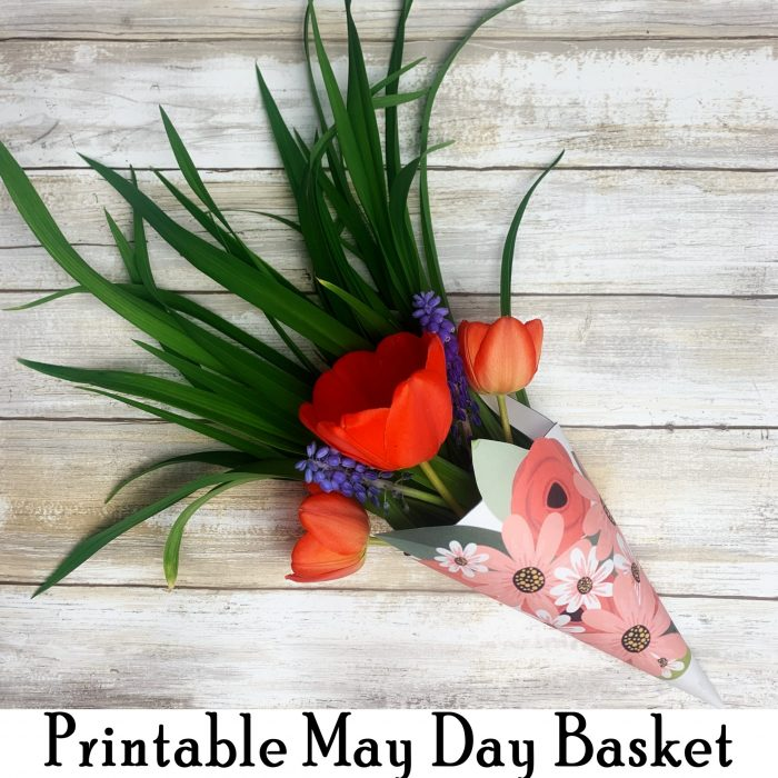 Free Printable May Day Basket