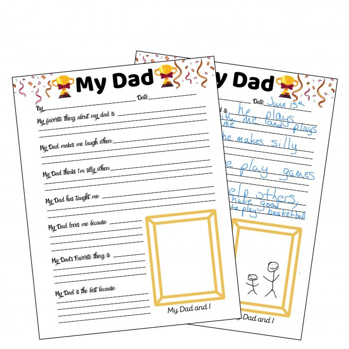 Father's Day Survey for Dad Gift for Dad