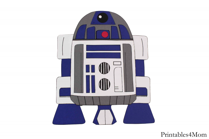R2D2 Print and Paste Craft Free printable