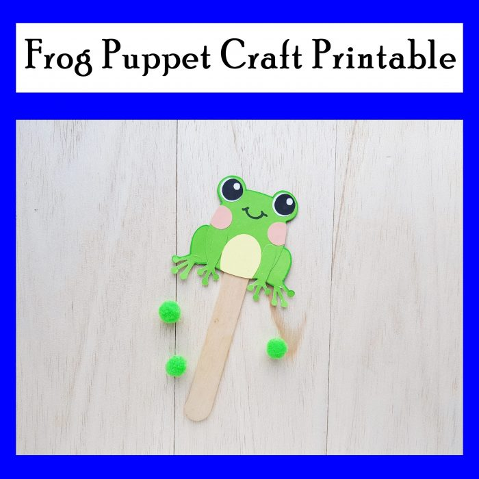 Paper Frog Puppet Craft with free printable template