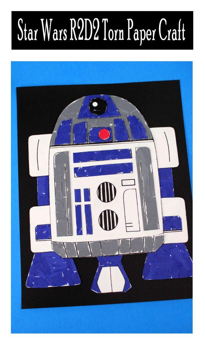 Star Wars R2D2 Torn Paper Craft