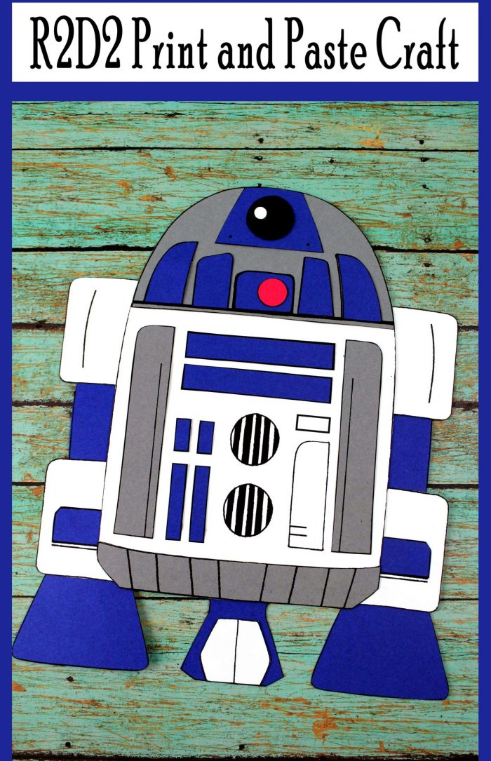 R2D2 Print and Paste Craft