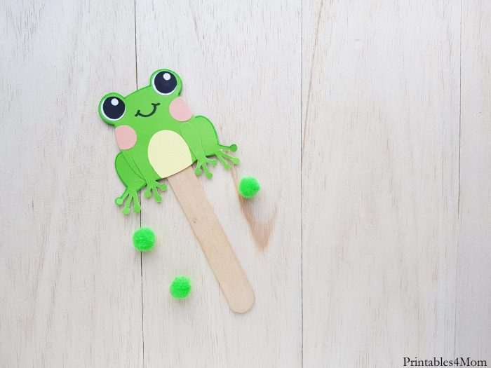 Paper Frog Puppet Craft Printable template