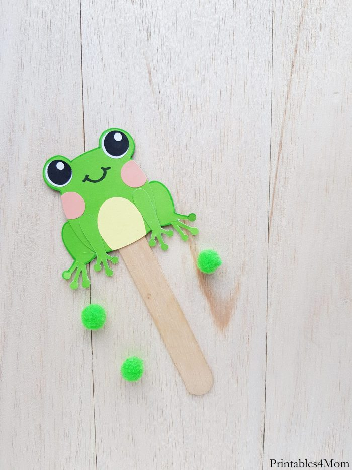 Paper Frog Puppet Craft Printables 4 Mom