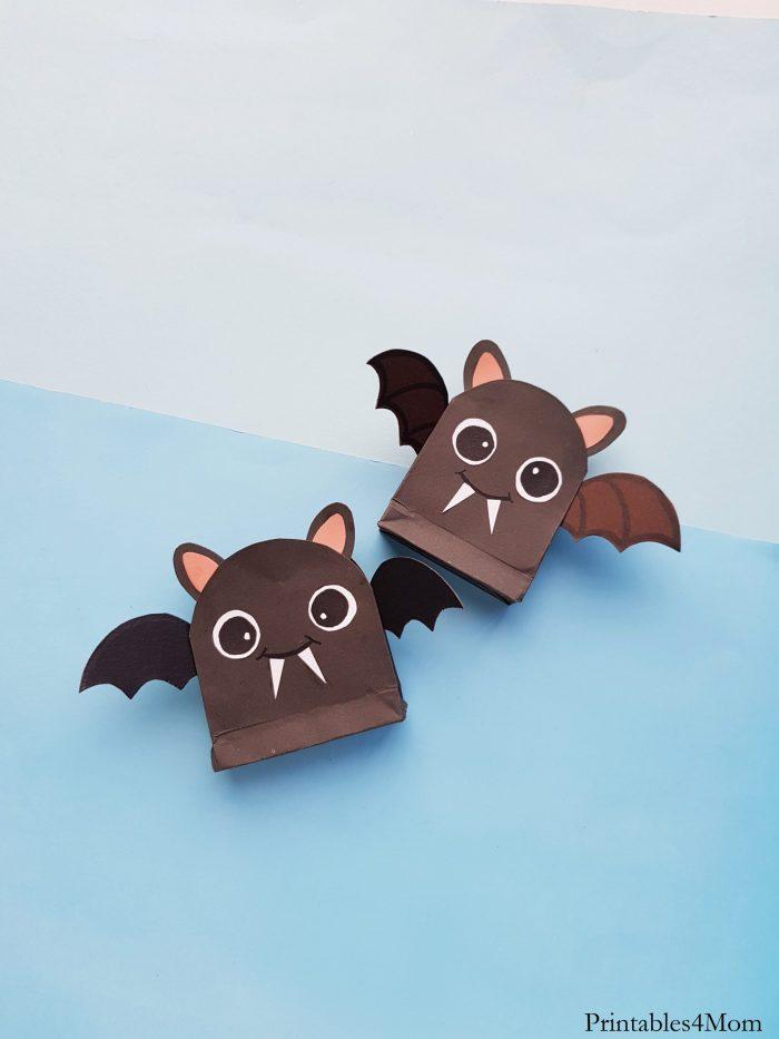 DIY Bat Treat Bag Craft Halloween Kids Craft Free