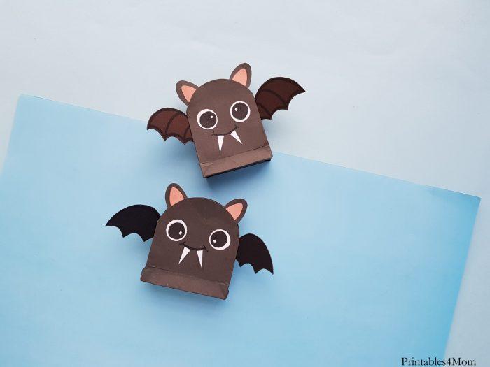 DIY Bat Treat Bag Craft Printable Halloween Gift
