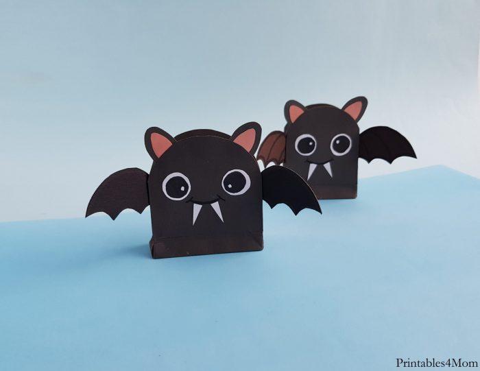 DIY Bat Treat Bag Craft Printable Kids Halloween