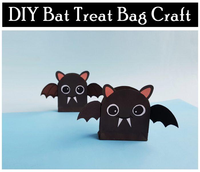 DIY Bat Treat Bag Craft Free Printable Halloween