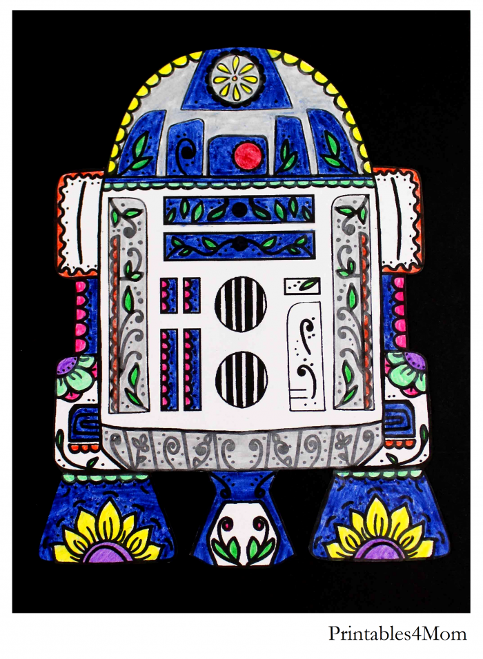 Star Wars R2D2 Sugar Skull Printable