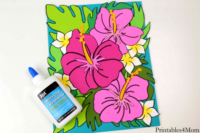 Tropical Flower Crafts Printable Template