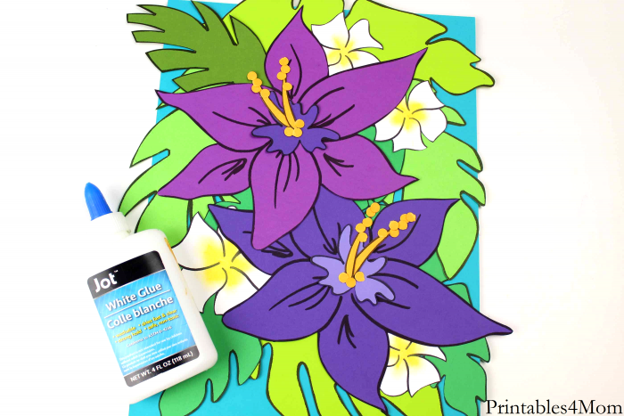 Tropical Flower Crafts Kid Craft