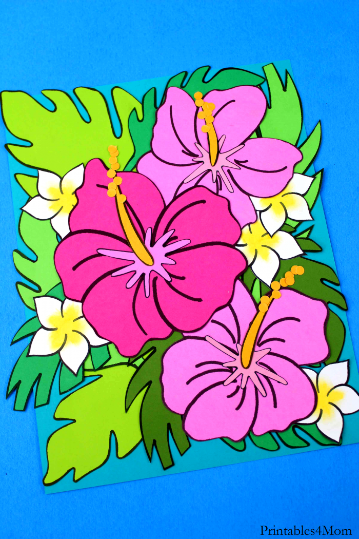 Tropical Flower Crafts Free Printable