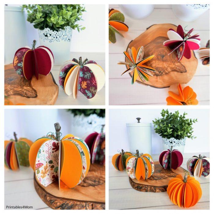 Free Printable Fall Pumpkin Decor Craft with SVG