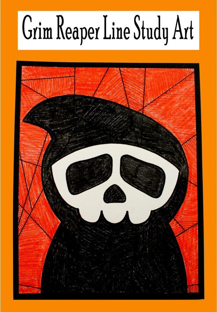 Grim Reaper Line Study Art Print