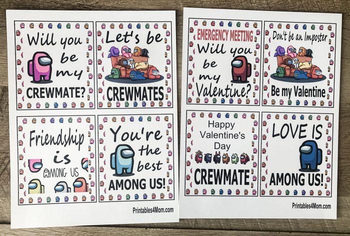 Among Us Printable Valentines FREE