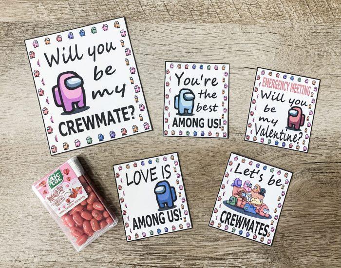 Among Us Printable Valentines