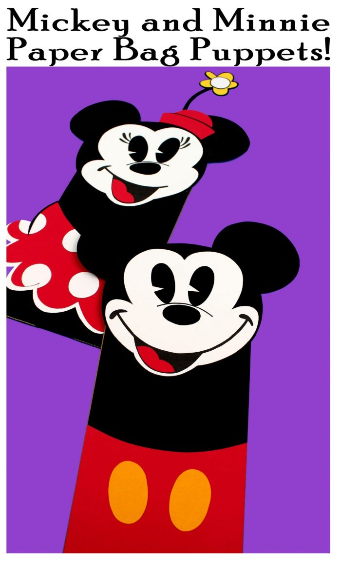 Mickey and Minnie Mouse Puppet Crafts Free Printable